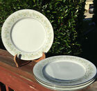 Set of 4 Noritake Savannah 2031 Dinner Plates Small Flowers on Rim 10.5