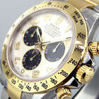 UNWORN ROLEX DAYTONA 116523 STEEL GOLD TWO TONE PANDA DIAL