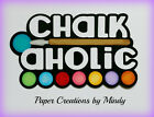 Craftecafe Mindy Chalkaholic Title premade paper piecing for scrapbook page