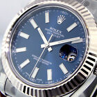 UNWORN ROLEX DATEJUST ll 116334 BLUE STICK DIAL WHITE GOLD FLUTED BEZEL OYSTER
