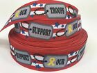 BTY 1 Support Our Troops Grosgrain Ribbon Hair Bows Scrapbooking Lisa