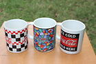 Coca-Cola Coffee Mugs Cups by Gibson lot of 3 1996-1997