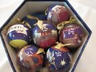 Family Choice Set of 6 Crafted Nativity Christmas Tree Ornaments