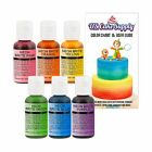 US Cake Supply by Chefmaster Airbrush Cake Neon Color Set The 6 Most Popula