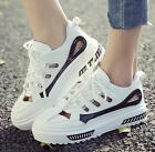 Womens hollow up multi color low top sneakers summer fashion sport shoes A144