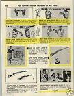 1957 PAPER AD Parris Kated Trainerifle Toy Rifle Gun Buffalo Bill Holster Set