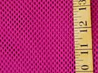 BRIGHT PINK FUCHSIA POLYESTER COTTON FISH NET FABRIC NO STRETCH BY THE 1 2 YARD