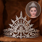 Vintage Wedding Bridal Crystal Headband Queen Crown Beauty Pageant Tiara Silver