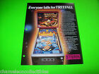 FREE FALL By STERN 1979 ORIGINAL PINBALL MACHINE PROMO SALES FLYER BROCHURE