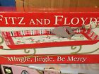 FITZ & FLOYD Christmas Mingle Jingle Be Merry Appetizer Tray Sleigh Cheese Knife