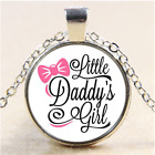 daddys little girl Photo Cabochon Glass Tibet Silver Pendant Necklace