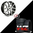22 Viper Style Wheels w Tires Machined Black Fits Dodge Magnum Charger 300C