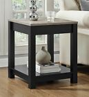 Dorel Home Furnishings Carver Black sonoma Oak End Table Organize Wood Grain Top
