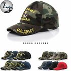 US Military Army Navy Marine Air Force Veteran Adjustable Mesh Baseball Cap Hat