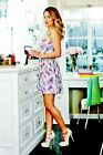 Lauren Conrad Flirty Floral Back Heart Cut Out Dress Sz 10 EUC Summer Dress