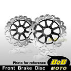 Kawasaki ZRX 1200 S/R 2001-2005 2006 2x Stainless Steel Front Brake Disc Rotor