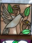 Stained suncatcher Perfect condition foil work colorf glass no broken pieces