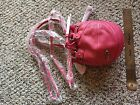 Red 24 Pink Leather Basketball Purse NWT