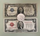 Estate Lot of 1  2 Series Of 1928 Notes  Silver Peace Dollar