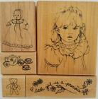 Dream Impressions Rubber Stamp Set Little Girl 144 0120 New Never Used