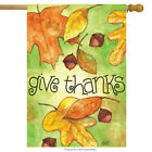 Fall Leaves Give Thanks House Flag Thanksgiving Acorns Leaf 28 x 40