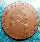 1794 Great Britain Sussex Brighton Half Penny Conder Token D&H 3a Almost Uncirc