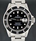 Rolex Oyster Perpetual Submariner Date 16800 Stainless Black Dial Watch