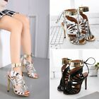 Women Stiletto High Heel Open Toe Sandals Pumps Dress Shoes Size 45 85 Classic