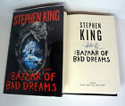 STEPHEN KING SIGNED THE BAZAAR OF BAD DREAMS 1ST EDITION 1ST PRINT BOOK