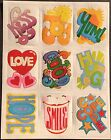 Vintage Stickers Eureka Sayings Mint Condition