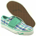 NEW Puma Womens El Rey Plaid Green Slip On Shoes US 65