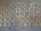 40 Used Rustic  Refurbished Metal Horse Shoes w Nails Pulled  Some Cleaned