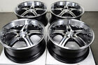 18 5x112 Polished Black Wheels Fits E Class S430 S500 Mercedes Benz 5 Lug Rims