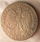 1934 POLAND 5 ZLOTYCH - HUGE VALUE Silver Coin - Lot #714