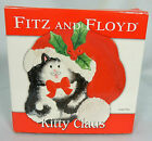 Fitz and Floyd Kitty Claus Ceramic Canapé Plate Kitten Christmas 2006 Box China