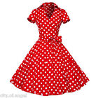 US Vintage 50s Rockabilly Style Retro Swing Pinup Housewife Party Polka Dress
