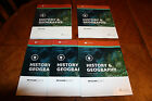 Alpha Omega LIFEPAC 9th Grade HISTORY GEOGRAPHY Teacher Student Books 123 and 4