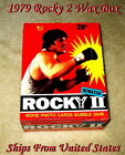 1979 Topps Full Wax Box REMATCH ROCKY 2 Movie Photo Trading Cards NM-MINT!!!