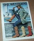1979 vintage ad Acme Cowboy Boots Sexy cowgirl girl jeans western PRINT ADVERT