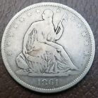 1861 O Seated Liberty Half Dollar Confederate WB-104 Speared Bud , US Type Coin