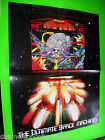Williams FIREPOWER Original NOS 1980 Fold Out Pinball Machine Poster Promo Flyer