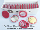 20 Acrylic Plastic Capsules Commemorate Coin Holder Case Display 16-37mm US