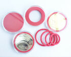 20 Acrylic Plastic Capsules Badge/Coin Holder Case Display for 19-40mm RED US