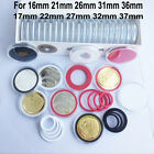20X US Capsules Commemorate Coin Badge Case Holder Display for 16-37mm WH/BK/RED