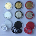 20X US Capsules Coin Badge Case Holder Box With Ring Colored Display for 19-40mm