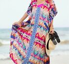Free Size Beach Cover Up Vintage Swimwear Ladies Tunic Robe Long Bathing Suit