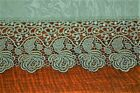 DAINTY DAMASK  PLAUENER LACE ROSES IN GREEN GERMAN SPRING TABLECLOTH WOW