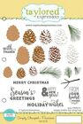 Taylored Expressions Cling Mounted Stamp Set Simply Stamped Pinecones Holiday