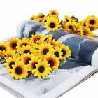 100 Pc Artificial Silk Yellow Sunflower Heads 35 4cm Floral Home Art Decoration