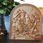 Nativity Birth of Jesus Orthodox Wooden Carved Icon Christian Gift 10x9